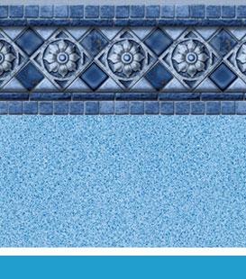 Florentine Blue Crystal pool liner image